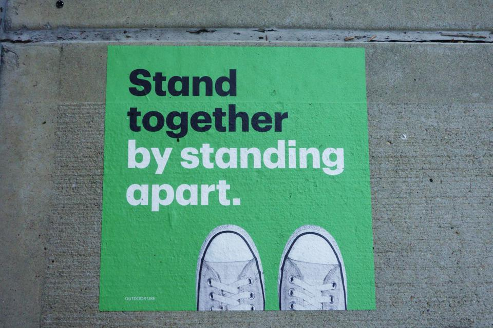 TD Bank street decal, Stand Together by Standing Apart, Manhattan, NY