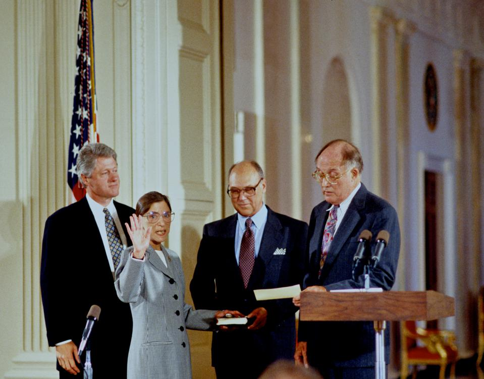 Ruth Bader Ginsberg Sworn in at the White House