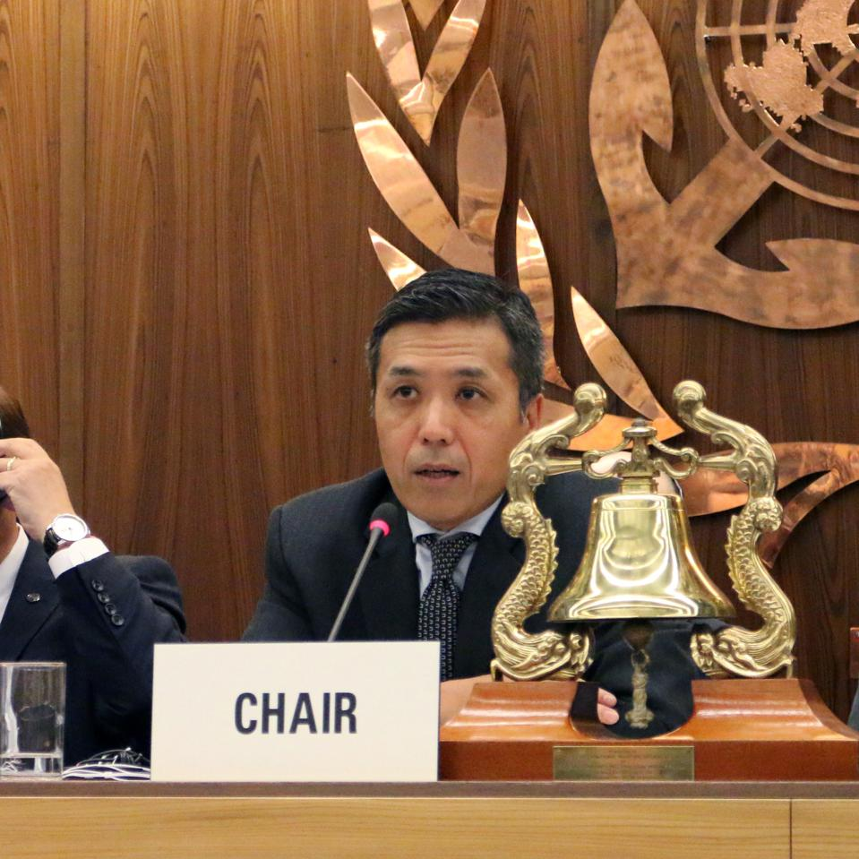 Controversial Chair of the Environmental Committee (MEPC) at the IMO, Japan's Hideaki Saito