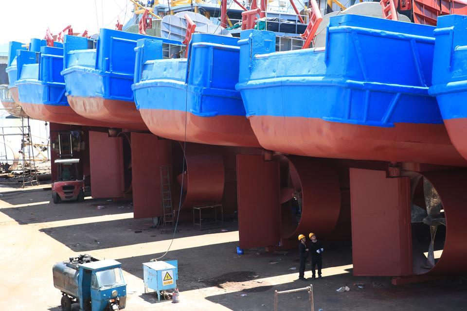 Shipyard In Zhejiang