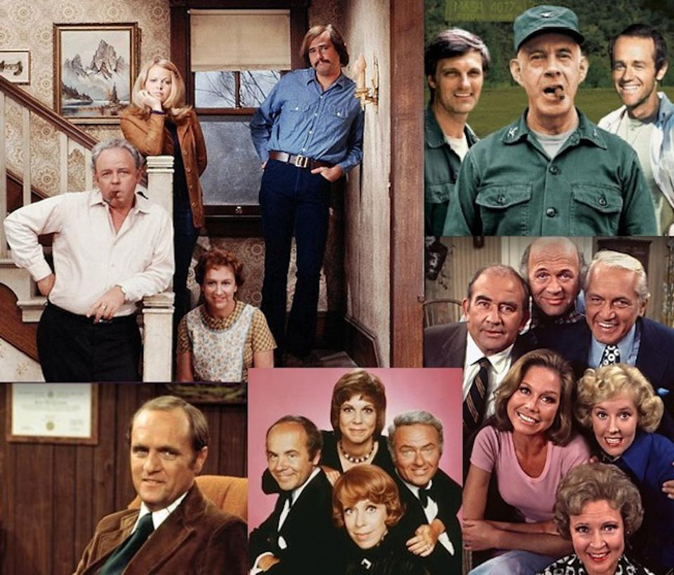 CBS' classic night of television in the 1972-73 TV season: ″All in the Family,″ ″M*A*S*H,″ ″The Mary Tyler Moore Show,″ ″The Bob Newhart Show″ and ″The Carol Burnett Show.″