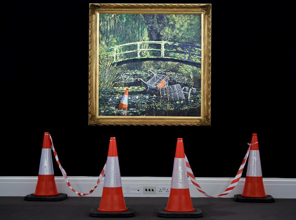 BRITAIN-ART-AUCTION-BANKSY