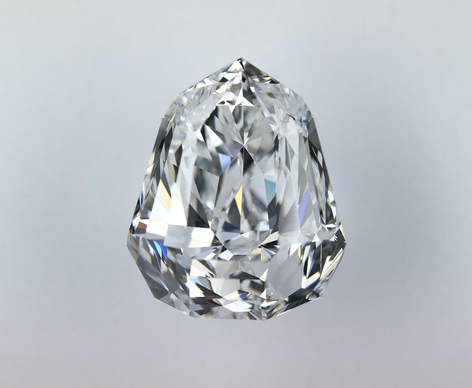 A 100.85-carat diamond acquired by Moussaieff for $5.9 million at Christies Geneva