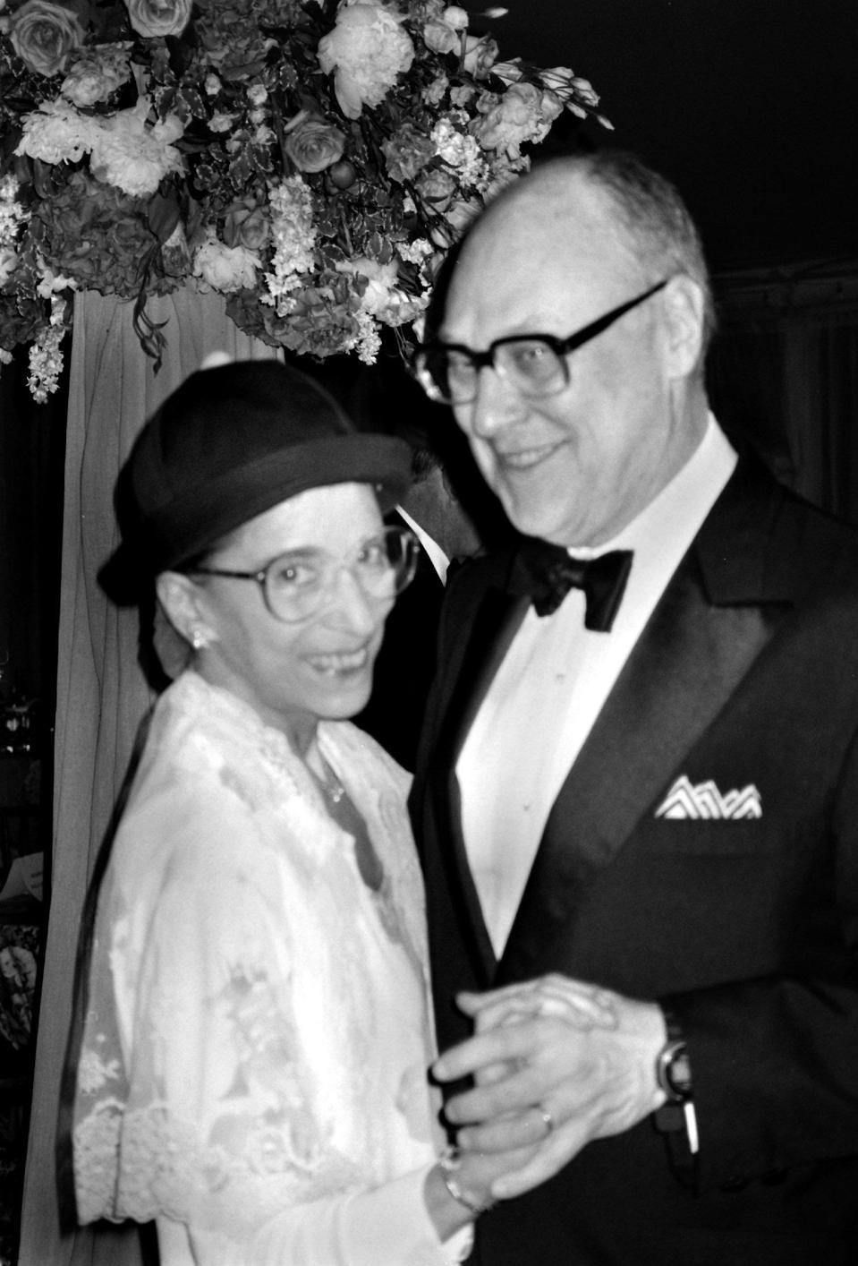 Supreme Court Justice Ruth Bader Ginsburg with husband Martin Ginsburg...