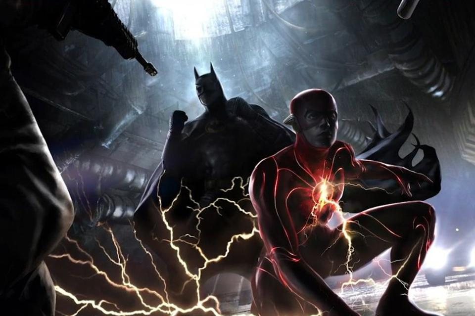Concept Art for The Flash Film featuring Ezra Miller and Michael Keaton