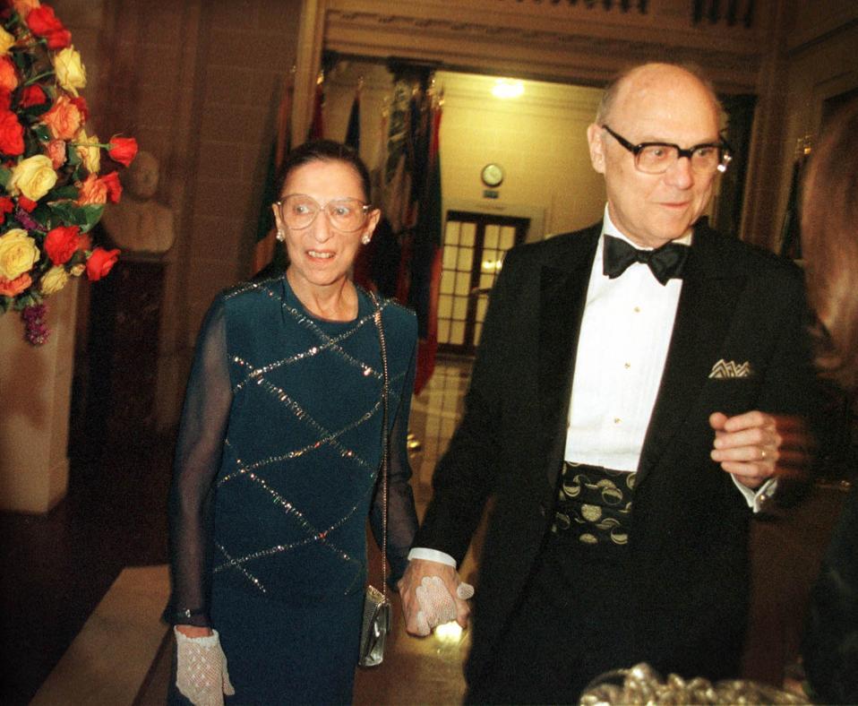 U.S. Supreme Court Justice RBG and husband at Gala Dinner
