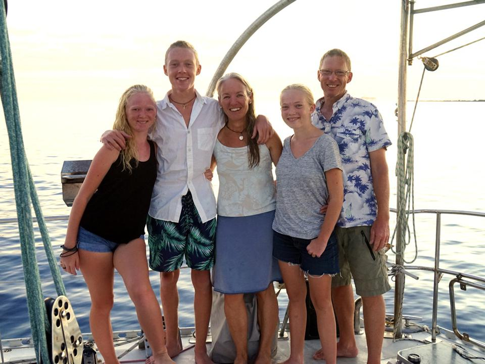 Gifford Family aboard Totem
