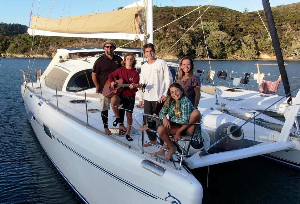Whitaker Family aboard Zatara