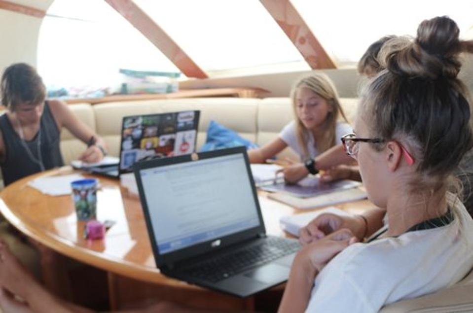 Whitaker Family homeschooling
