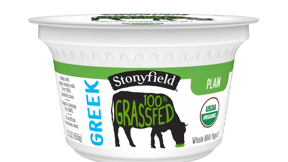 Stonyfield Organic 100% Grassfed Greek Plain  yogurt