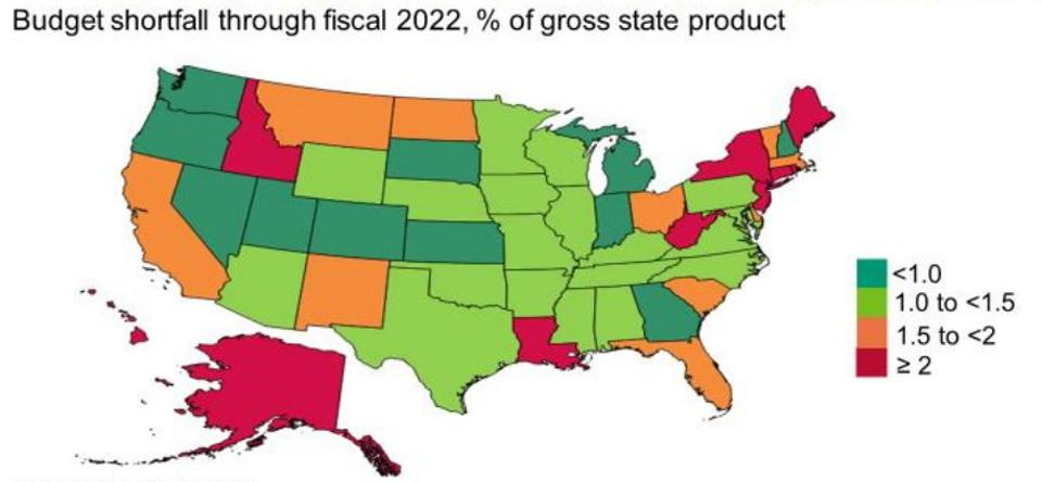 Pandemic Hits Some States Budgets Harder