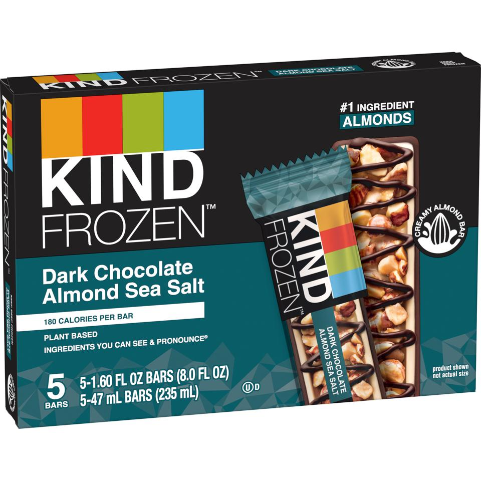 KIND Frozen Dark Chocolate Almond Sea Salt Bars
