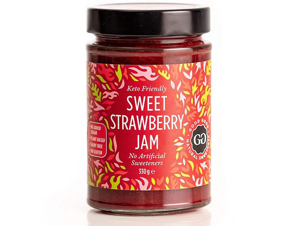 Sweet Strawberry Jam by Good Good Keto friendly low calorie