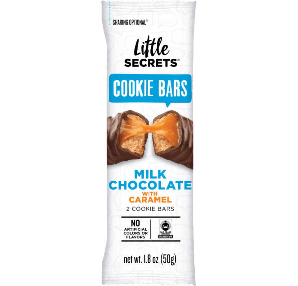 Little Secrets MILK CHOCOLATE COOKIE BARS WITH CARAMEL
