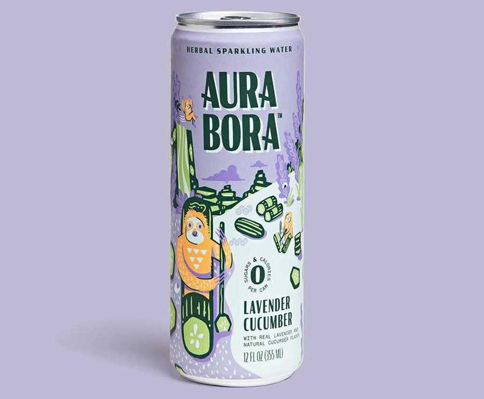 Aura Bora Lavender Cucumber herbal sparkling water