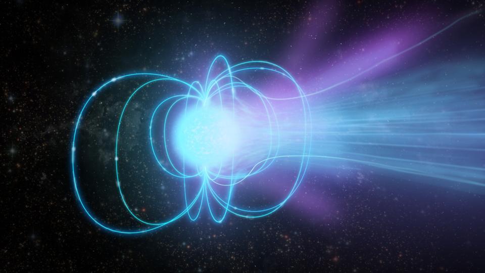 Artist rendering of a magnetar.