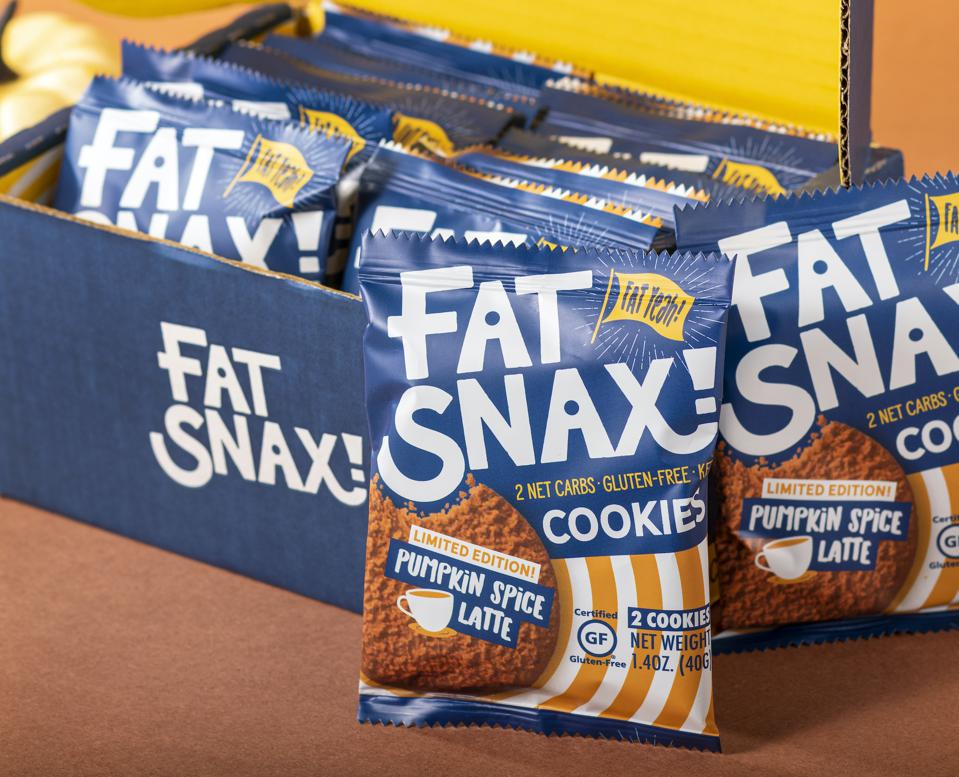 Fat Snax Pumpkin Spice Latte Cookies Low Carb Keto gluten free fall