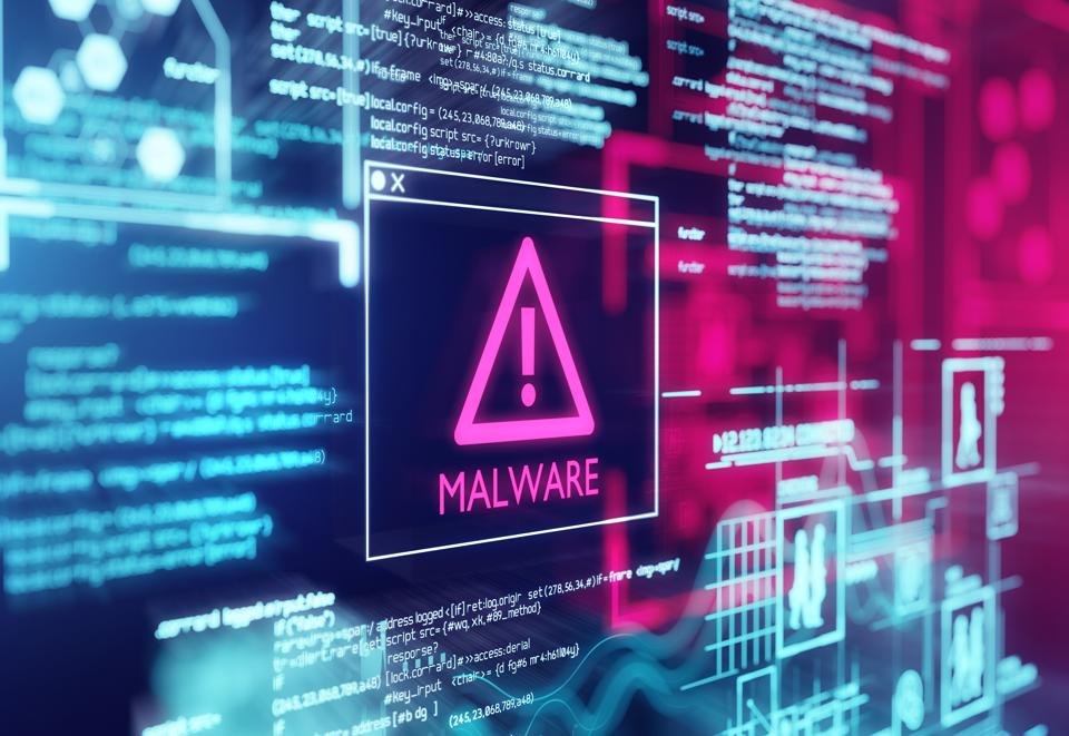 Malware Detected Warning Screen