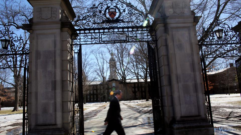 This is a photo of a gate at Princeton University.
