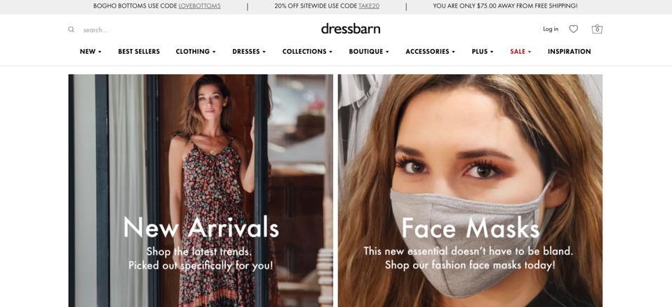 dressbarn website