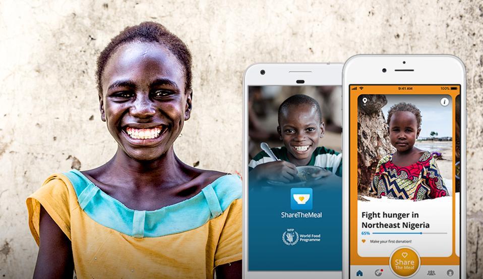 The World Food Programme's ShareTheMeal app.