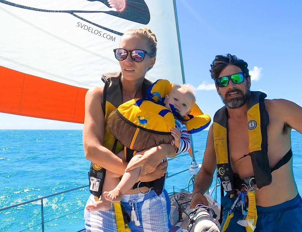Trautman family aboard SV Delos