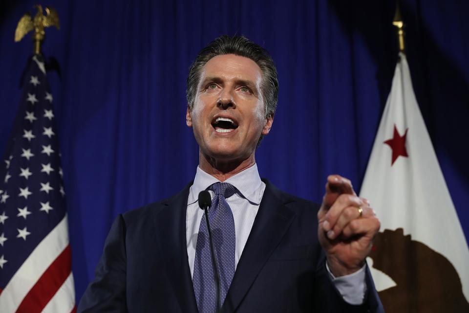 California Gubernatorial Candidate Gavin Newsom Holds Primary Night Event In San Francisco
