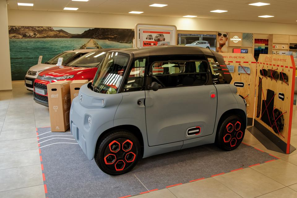 Commercial Launch Of The Tiny City Electric Car Citroen AMI