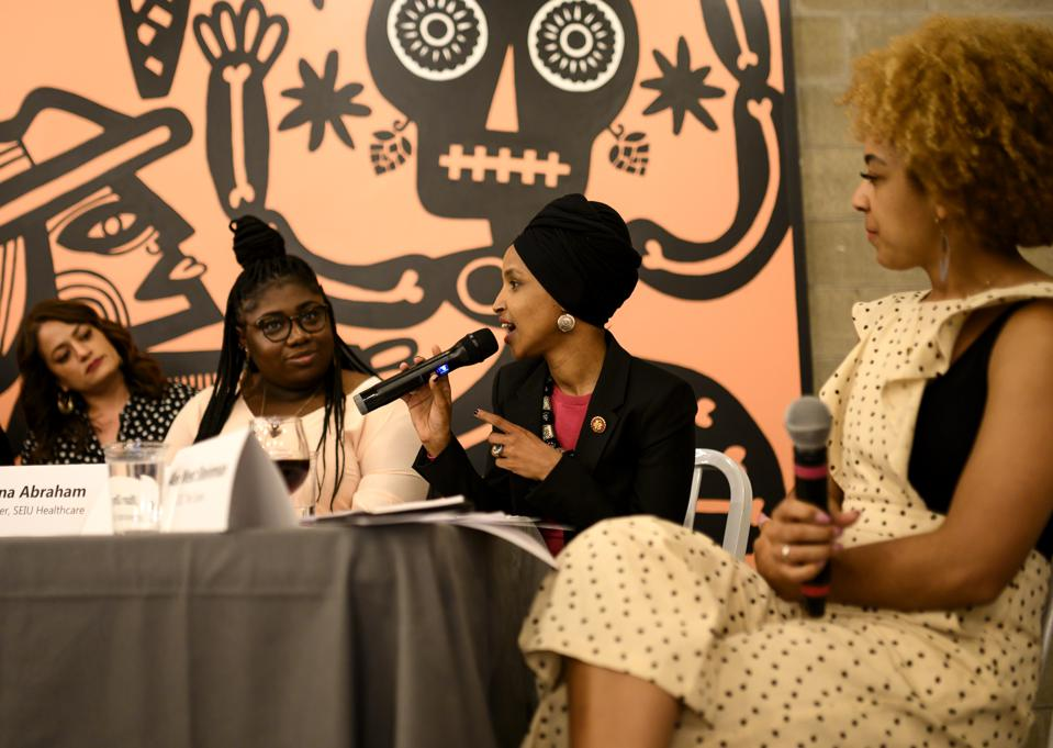 Rep. Ilhan Omar Hosts Town Hall On Gender And Pay Equity In Minneapolis