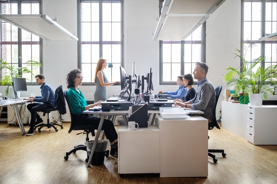 Business people working at a modern office