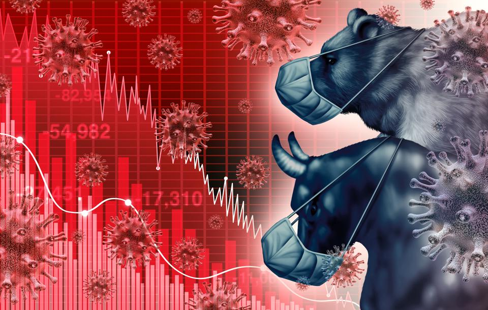Global economy pandemic fear and economic coronavirus fear and Stock market fears