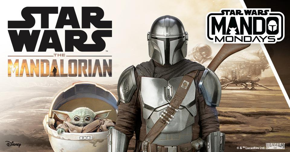 Star Wars The Mandalorian with The Child.