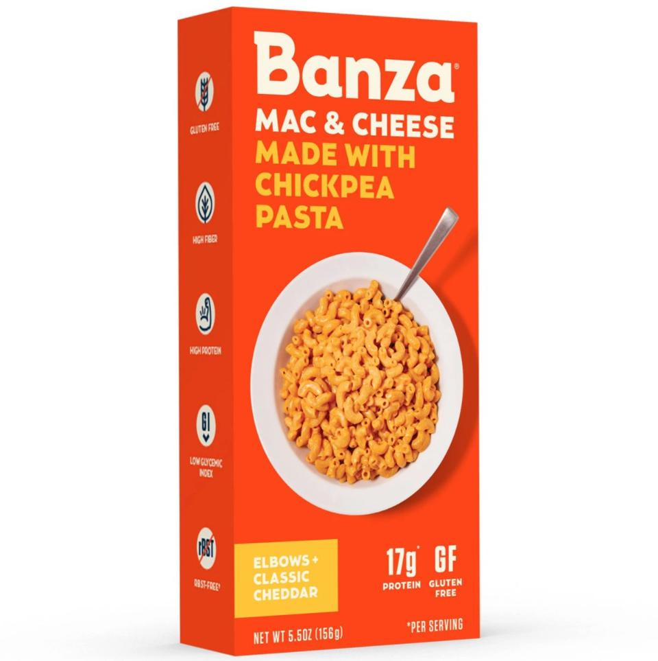 Banza Mac and Cheese elbows classic cheddar chickpea pasta