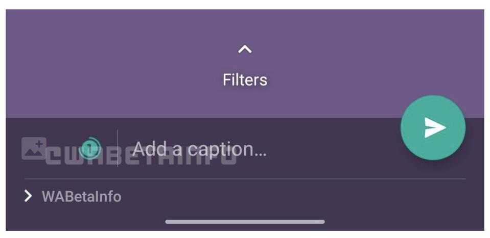 Disappearing media filter