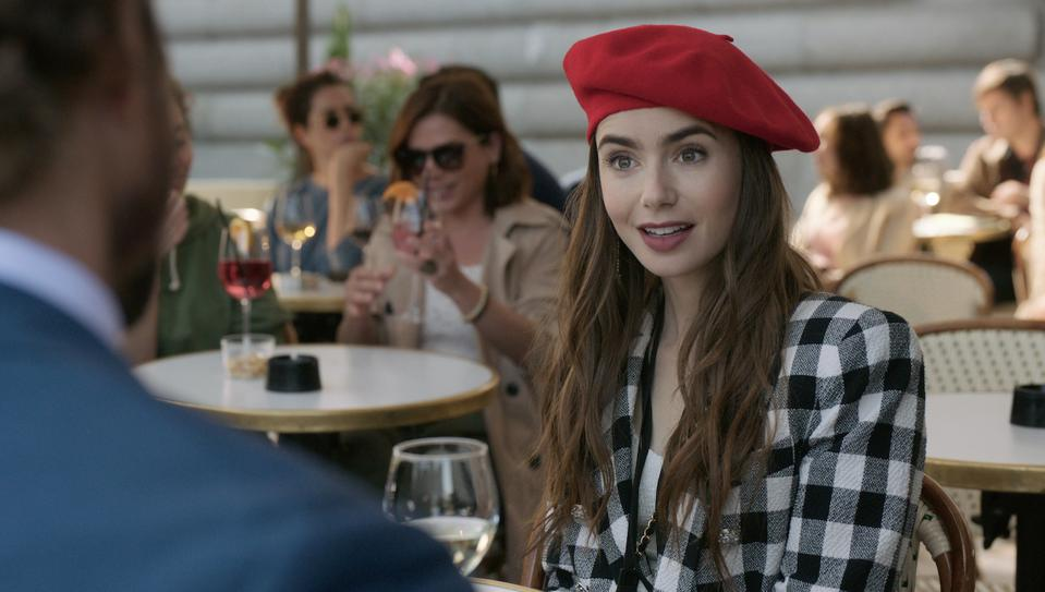 Lily Collins stars as Emily in Netflix's new series by Darren Star (Sex and the City).