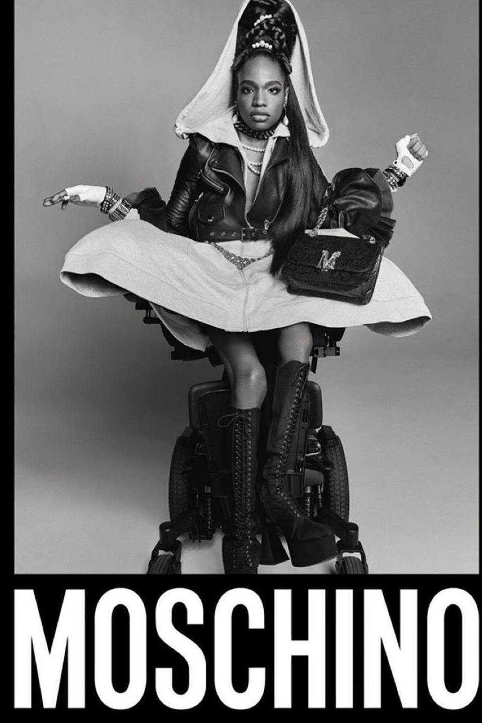 Supermodel Aaron Philip is the face of Moschino