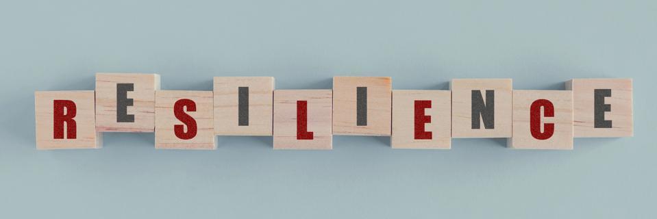 Resilience is written on wooden blocks
