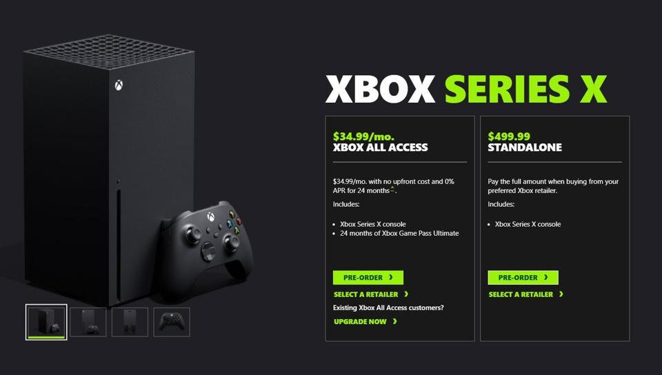 Xbox Series X And Series S Pre Orders Are A Disaster With Broken Sites Instant Sellouts