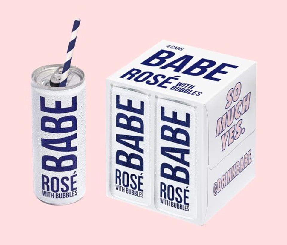 babe wines sparkling wine rose cans