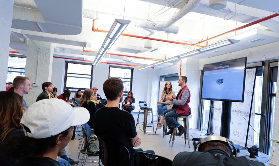Contestants in a hackathon