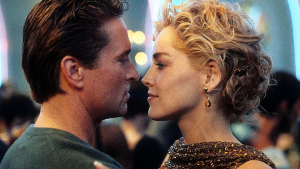 Michael Douglas And Sharon Stone In 'Basic Instinct'