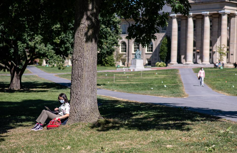 Cornell students on campus