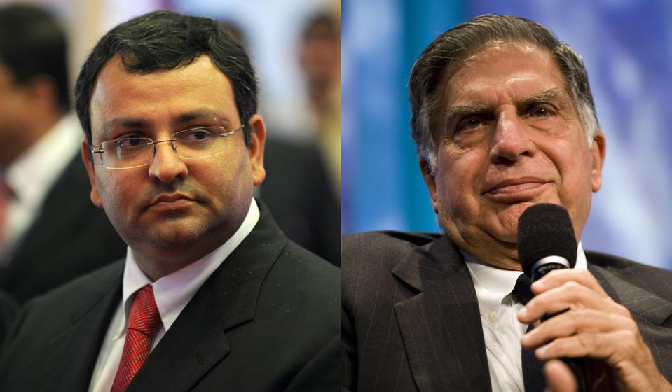 Cyrus Mistry and Ratan Tata.