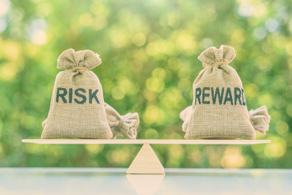 Risk reward ratio / risk management concept :
