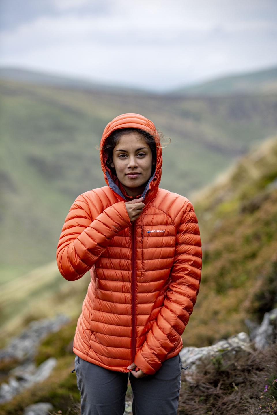 The Montane Featherlite Down Jacket in use in the hills.