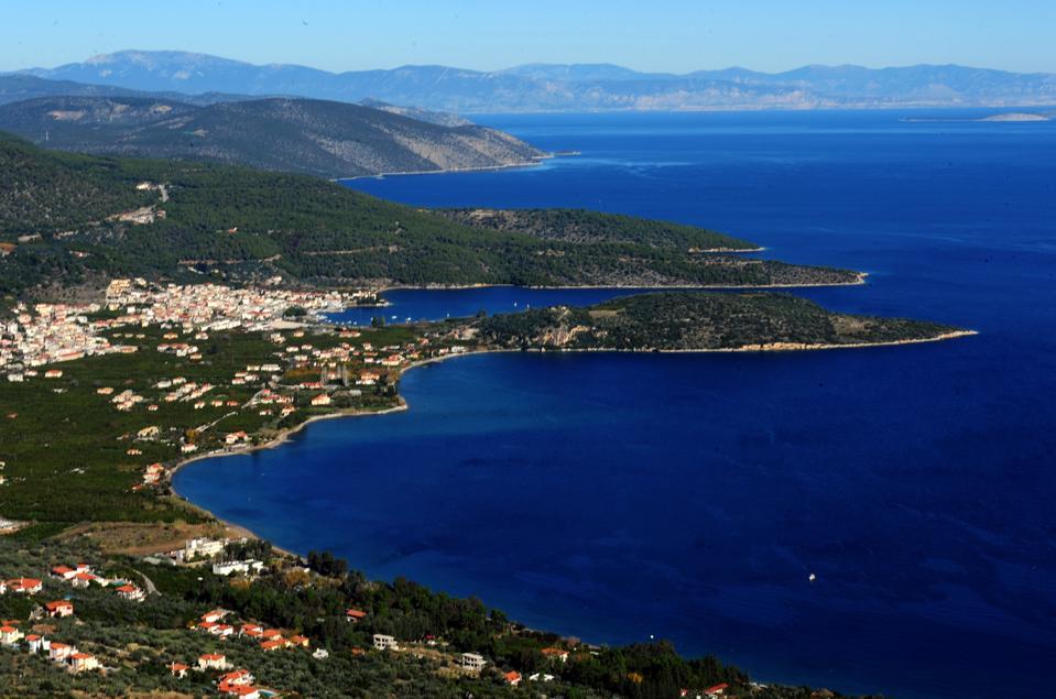 Scenic Greek hamlet of porto heli