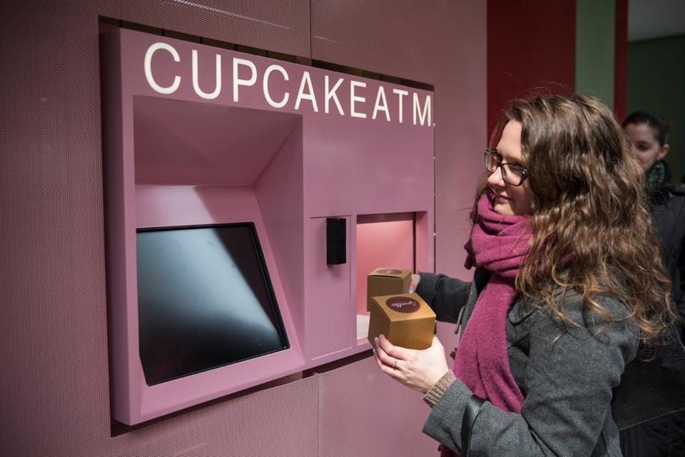 A cupcake ATM in New York City