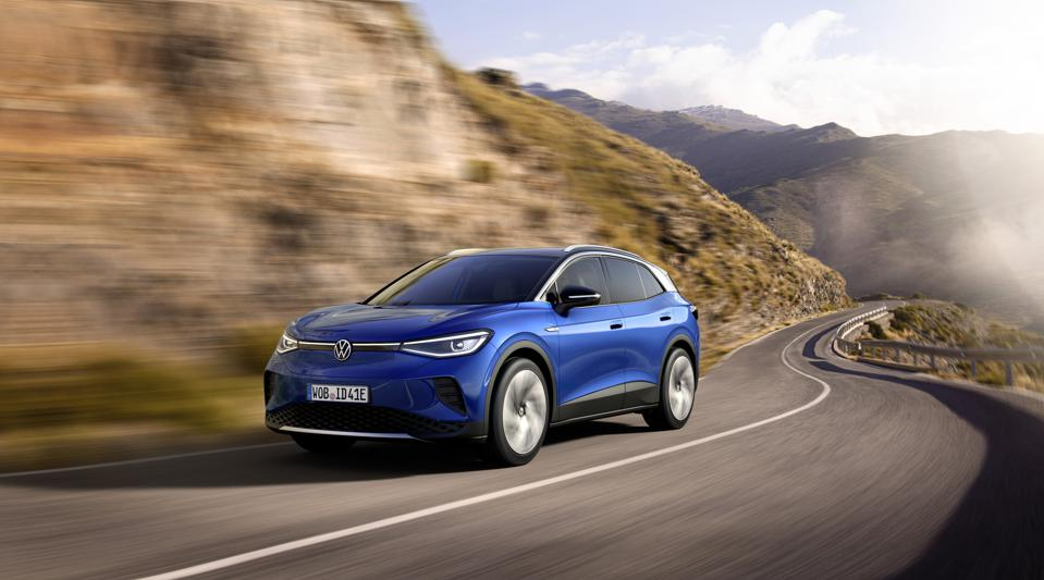 The ID.4 SUV, the second MEB Volkswagen EV in the German onslaught, launched today.