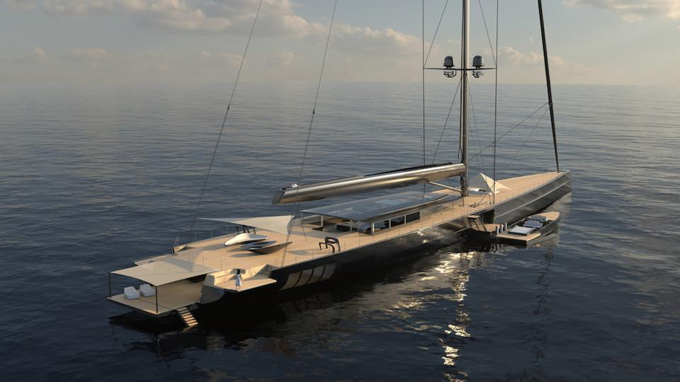 The Apex 850 concept could be the world's tallest sloop when it is built.