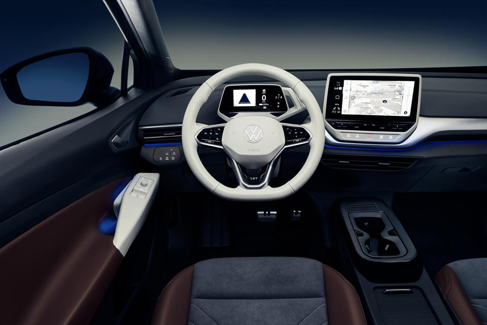 Volkswagen has gone for clarity over clutter in the ID.4's interior.